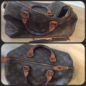 Le luxe d'une réparation éclair pour ce sac Louis Vuitton.